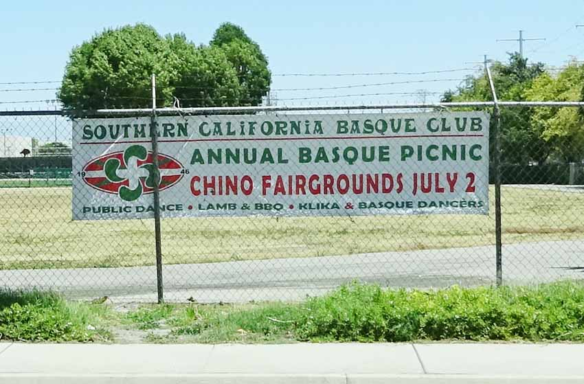 Poster announcing the picnic and Basque festival this weekend at the Chino Fairgrounds (photoEuskalKultura.com)