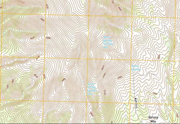 Basco Spring, Elko County, NV (arg. US Topo-Google)