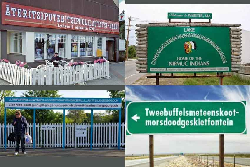 Some of the longest place names in the world (photos The MiceTimes of Asia)