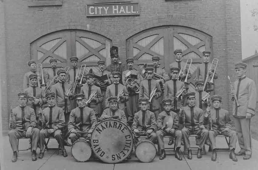 Ohio-ko Navarreko Musika Banda argazki historiko batean (arg. VisitNavarreOhio.com)