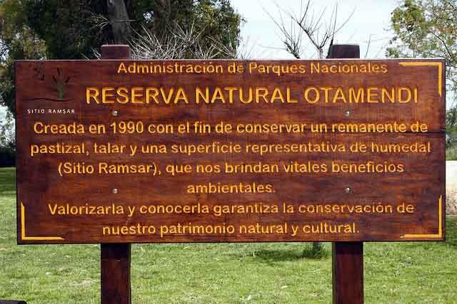 Otamendi Natural Reservoir (photo Loma Verde Noticias)