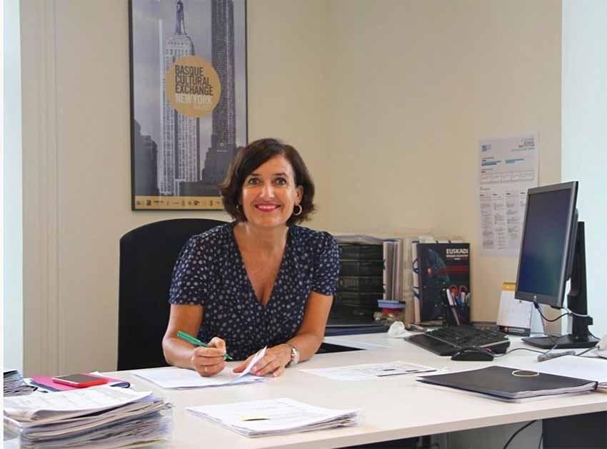 Irene Larraza, the director of the Etxepare Basque Institute, based in the Tabakalera building in Donostia-San Sebastian