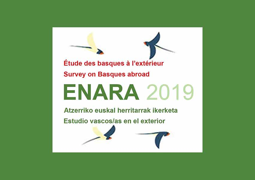 The deadline to participate in the Enara 2019 Survey of Basques abroad is August 15th