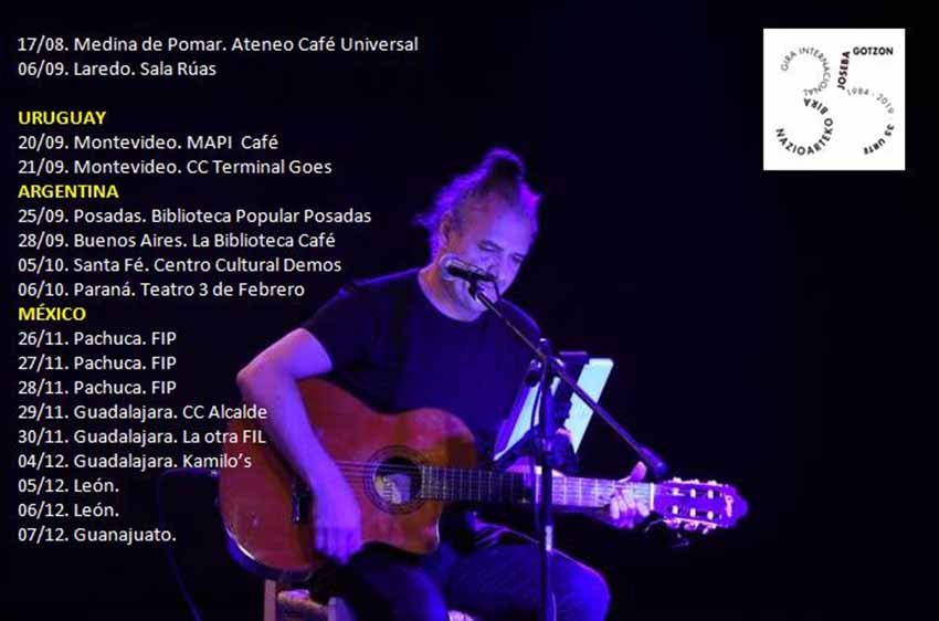 Program for the second part of Joseba Gotzon's 35th Anniversary tour in the world of song