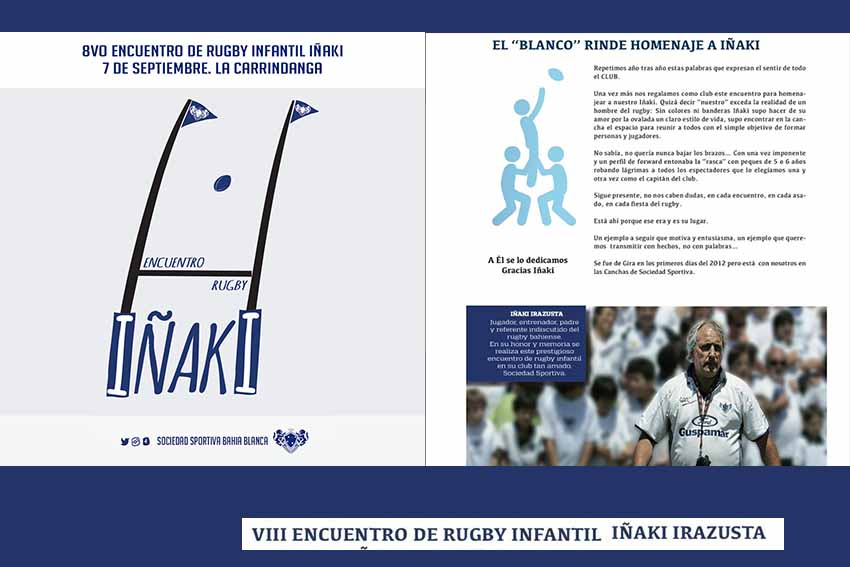 Booklet from the 8th Iñaki Irazusta Children's Rugby Gathering