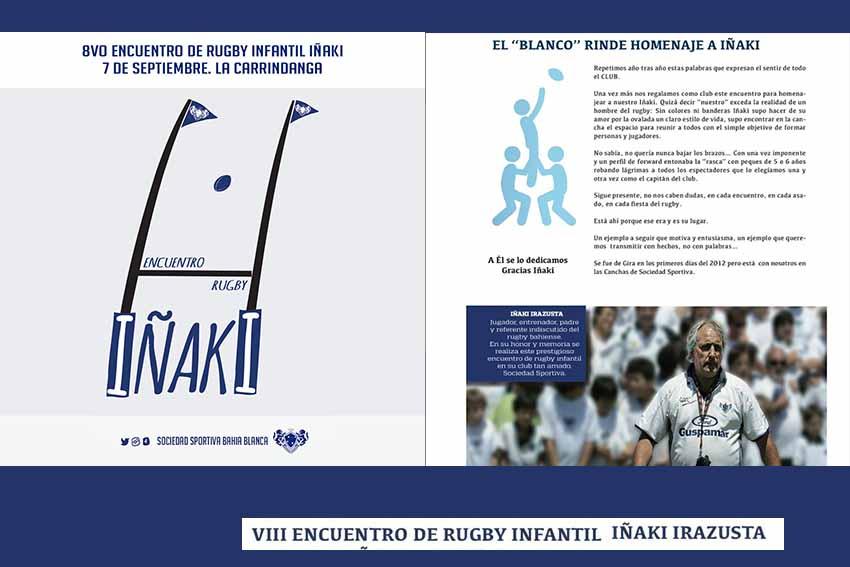 Cuadernillo de presentación del VIII Encuentro de Rugby Infantil Iñaki Irazusta