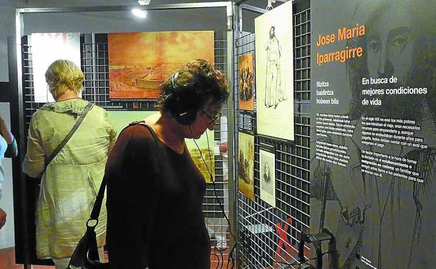 Euskal emigrazioari dagokion pasarte goibel hau aipatzen duen erakusketa Zumalakarregi Museoan ikus daitezke martxoaren 22ra bitartean (arg. ZM)
