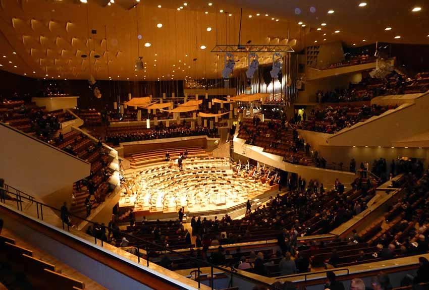 Palacio de la Filarmónica de Berlín en el que se llevará a cabo la ceremonia