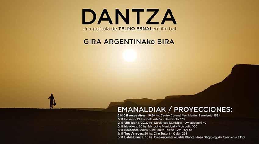 Dantza filmaren bira argentinarra, Telmo Esnal eta Gari Otamendirekin, bihar hasiko da Buenos Airesko San Martin Kultur Etxean