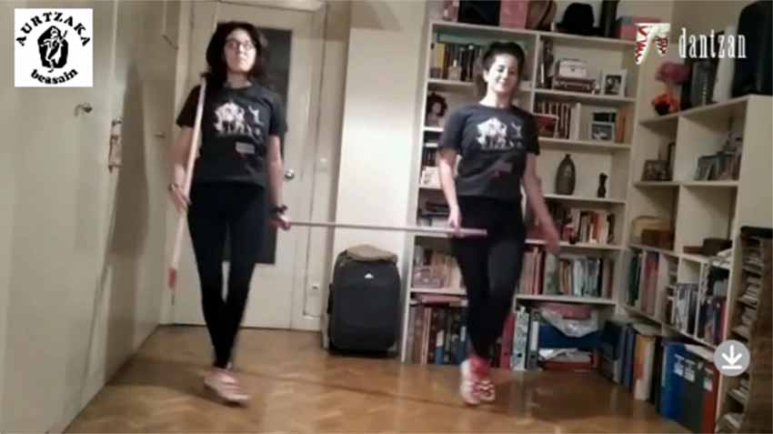 There are 13 tutorials to follow to learn and practice Basque dance and exercises from home