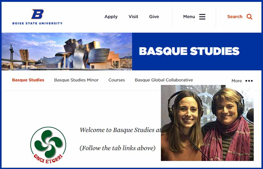 Ziortza Gandarias and Nere Lete will respond to online questions tomorrow about Basque Studies in Boise