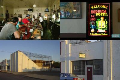 Images of the of the Noriega Hotel in Bakersfield, including its kantxa (photo EuskalKultura.eus)