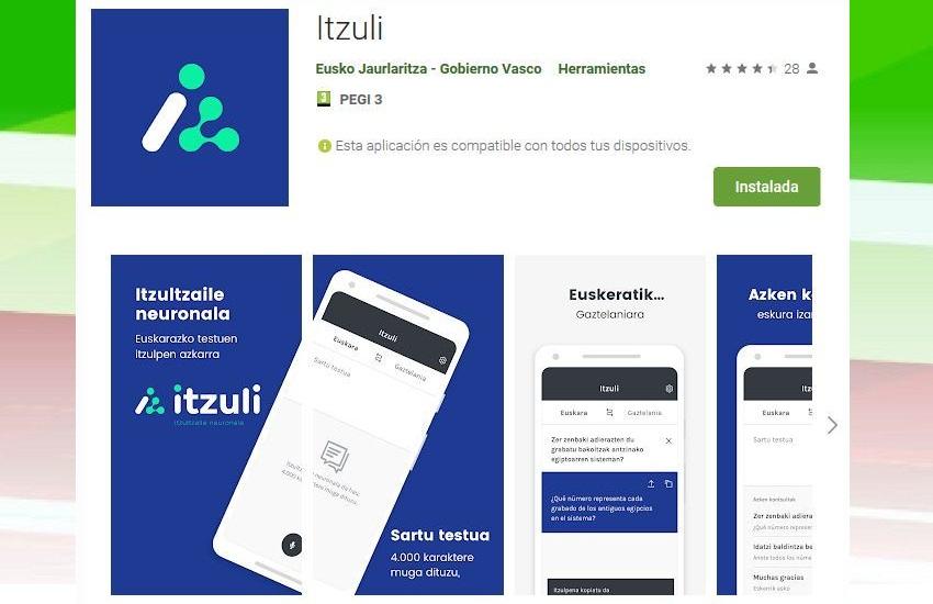 Itzuli, la aplicación que pone al alcance de todos traducciones de buena calidad