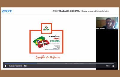 """Irailaren 12an Estebe Ormazabalek Zoom bidez """"A história basca do Brasil"""" izenpean eman zuen hitzaldia sareratu du Eusko Alkartasunak"""