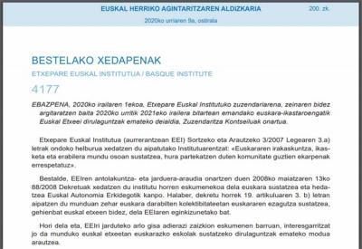 Euskal Etxeeen eta euren federazioen eskutik ematen diren euskara klaseak dirulaguntzen ditu Etxepare Euskal Institutuaren Deialdiak