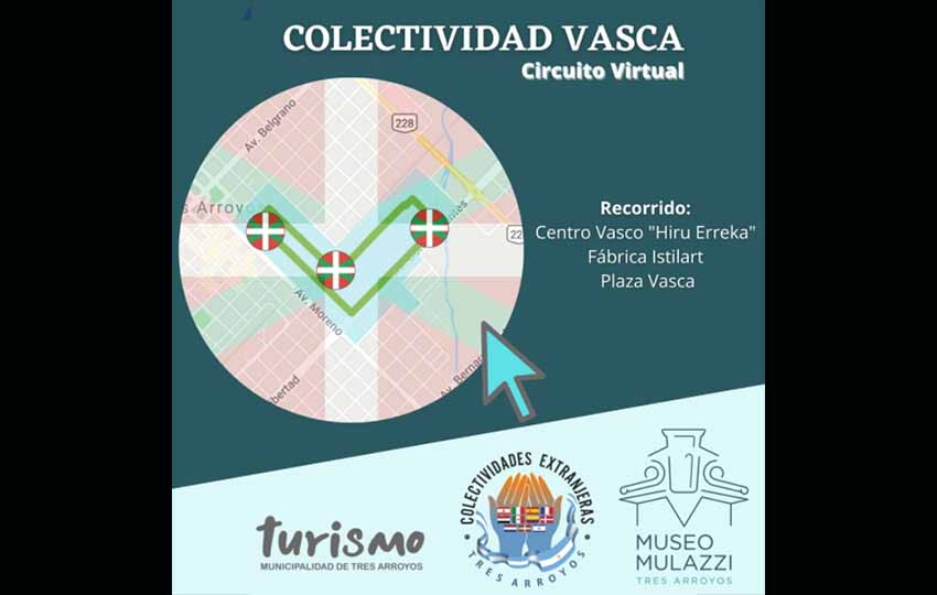Today the Basque Circuit will be inaugurated at 3:30pm, presenting Basque community places in Tres Arroyos