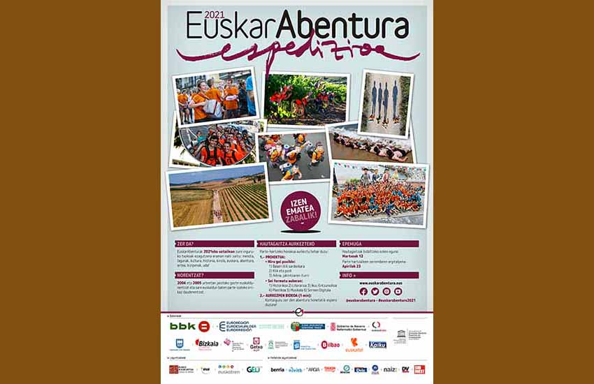 Cartel de EuskarAbentura 2021