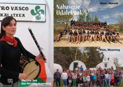 La txistulari Martina Saa de la EE en San Nicolás, Argentina; y Udaleku de NABO en EEUU, en imágenes de 'Txistuaz'