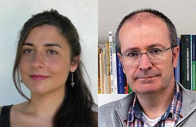 Anthropologist Zuriñe Goitia and philologist Asier Barandiaran (photo Labayru - Bizkaie!)