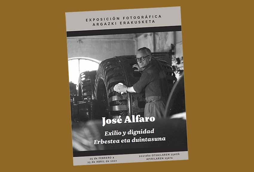 Erakusketak Jose Alfarok Iparraldean eta Frantziako hainbat lekutan izan zuen 10 urteko erbestealdia aurkezten du