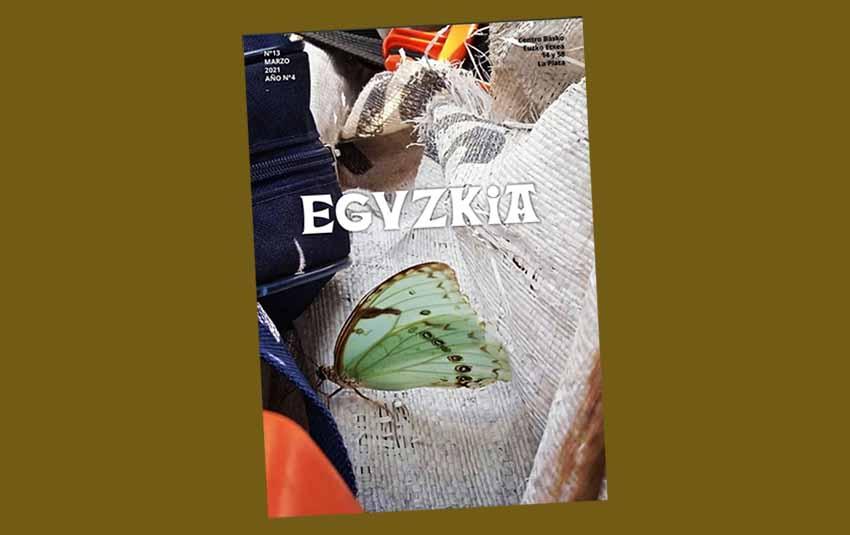 Tapa del número 13 de la revista Eguzkia de Euzko Etxea de La Plata, correspondiente a marzo de 2021