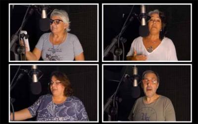 Singing are Teresa de Zavaleta, Mariana Dominé Irigoyen, Laura Nobile and Adrián Charras. Eskerrik asko eta Zorionak!
