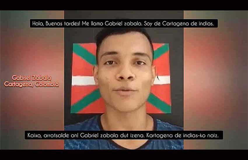 Desde Cartagena, en Colombia, Gabriel Zabala ha sido uno de los participantes en la iniciativa de 'Karibeko Euskal Etxea'