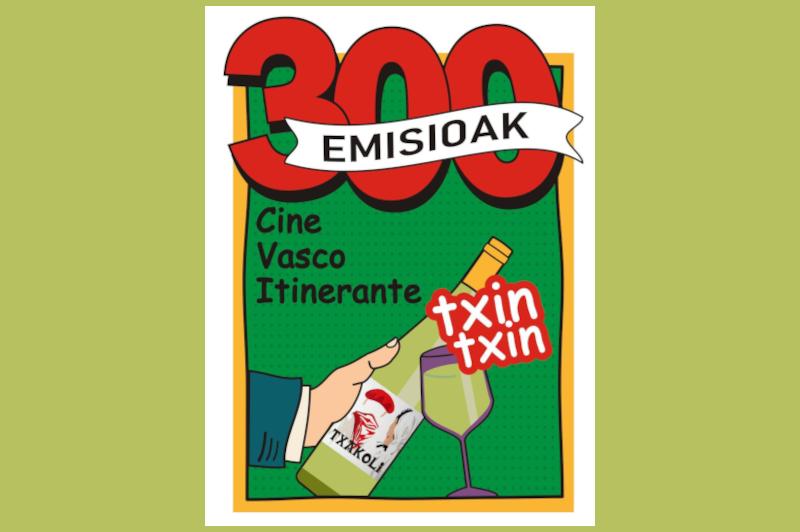 El nuevo logo del Ciclo de Cine Vasco Itinerante para celebrar sus 300 emisiones
