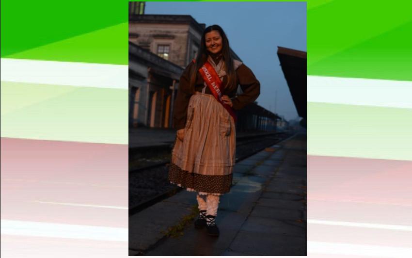 Agustina Lorenzatto, la representante del Centro Vasco Ibaiko Izarra para la Fiesta Provincial del Inmigrante