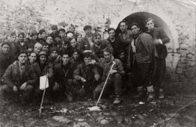 Militiamen of the Meabe Battalion #2 Stalin on the Otxandio Front (photo courtesy of Juan Miguel Bombin)