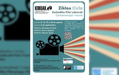 El ciclo virtual de cine vasco se llevará a cabo durante 5 jueves consecutivos en agosto y septiembre
