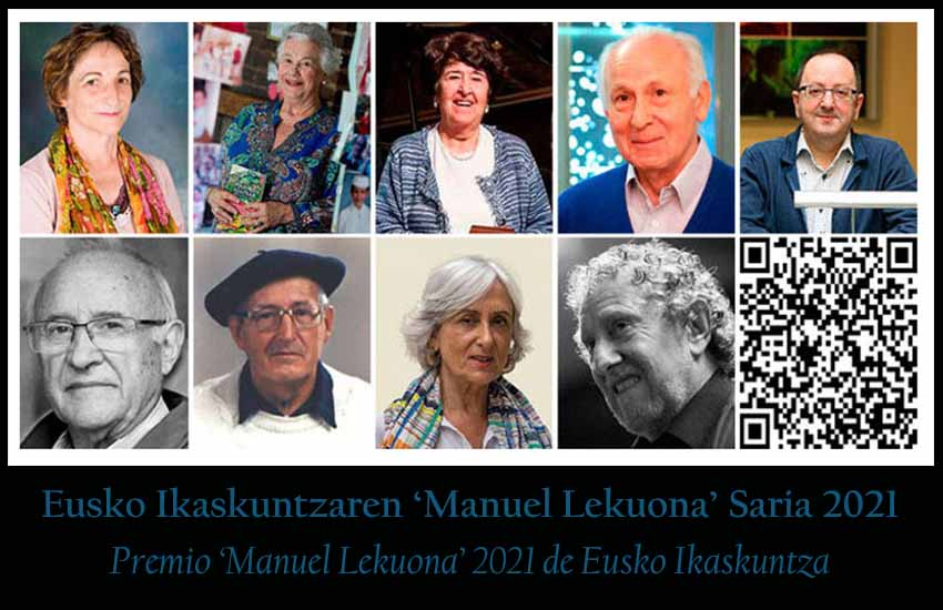The nine candidates for the 2021 Manuel Lekuona Award