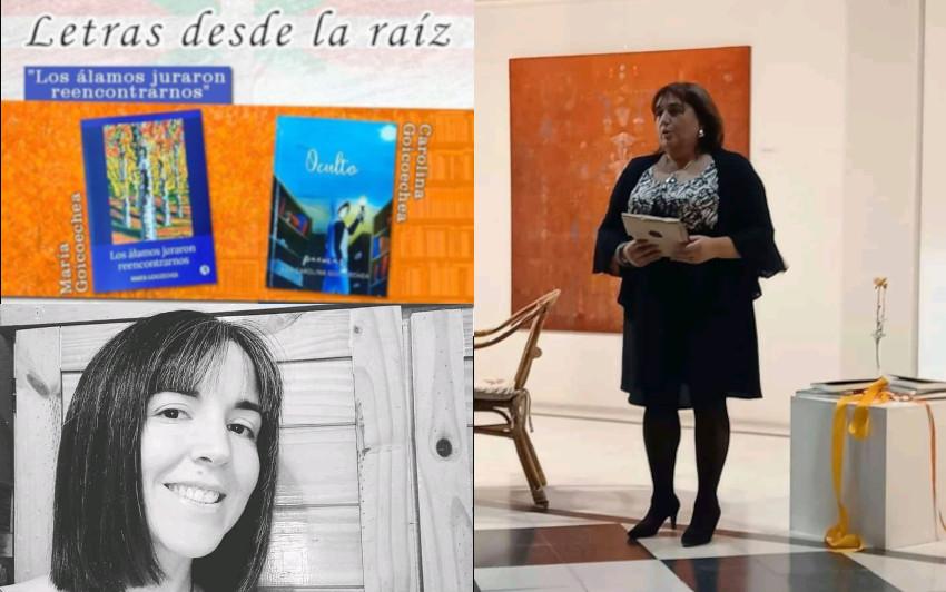 Las escritoras Ana Carolina y María Goicoechea presentarán sus libros en el Centro Vasco Hiru Erreka