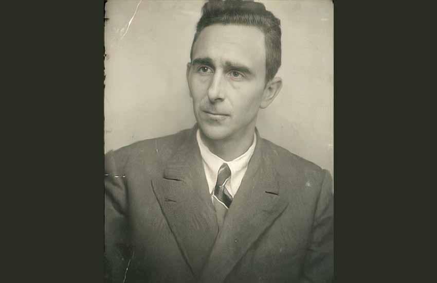 El ingeniero José Ramón Rementeria Arana, cuyas memorias han permitido documentar aspectos desconocidos sobre el frente de Otxandio (cortesía familia Rementeria)