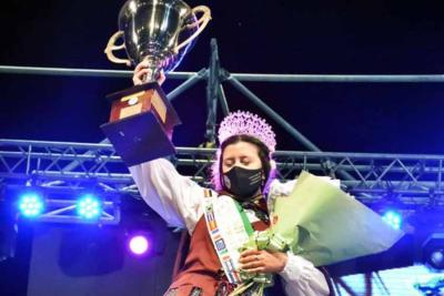 Agustina Lorenzatto, Reina Cultural de la XXVIII Fiesta Provincial del Inmigrante de Concordia (foto Diario Río Uruguay)