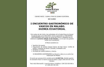 Si conoces algún vasco o euskaltzale en Guinea Ecuatorial, pásale por favor esta información. Contacto, +240 222 194 143