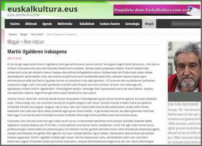 Jose Felix Azurmendiren bloga EuskalKultura.eus-en