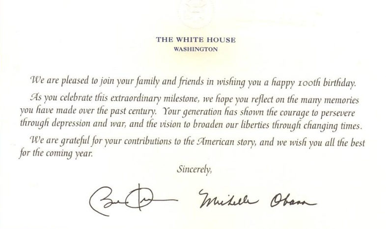 Birthday Card From The President gangcraftnet – Presidential Birthday Card